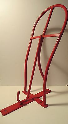 Vintage Large Iron Tack Horse Hook Painted Red Equestrian Hardware Decorative