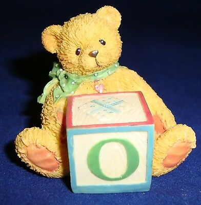 Enesco Baby Block O Teddy Bear 1995 Priscilla Hillman 158488O Cherished Teddies