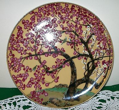 """fp 10""""inch Decorative Japanese Ceramic Plate~Cherry Blossom Tree~Excellent Cond."""