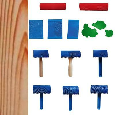 Wood Graining Rubber Painting Tool Texture Pattern DIY Wall Decoration Art Mural