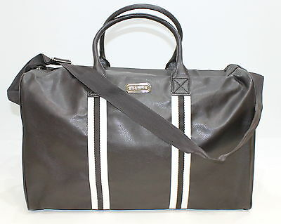 Aramis Adventure Parfums Mens Faux Leather Brown & Cream Holdall/travel Bag *new