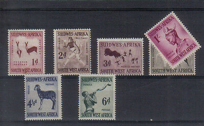 South West Africa 1954 set to 1/- very lightly mounted mint