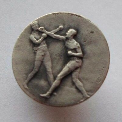 Vintage Colonial Boxing Club Sport Buttonhole Badge