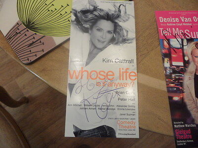 Genuine Autograph-Kim Cattrall-Flyer-Whose Life Is It Anyway