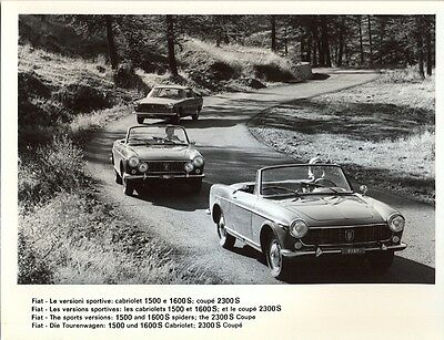 Fiat 1500 1600S Cabriolets 2300S Coupe original official press photo
