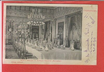 Turkey Constantinople Istanbul Dining Room at Merassin Imperial Kiosque