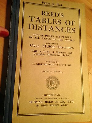 REED'S TABLES OF DISTANCES 1929, 11th Edition.  Very good condition.