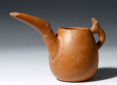 ARTEMIS GALLERY Marlik Redware Pitcher - Animal Form Spout & Handle