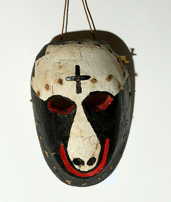 ARTEMIS GALLERY Mexican Mayo Pascola Chivo  Polychrome Mask - Cross