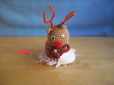 Hand Crocheted Rudolph Decoration/Ornament