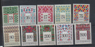 Hungary 1994-99 Patterns Ten values to 500fo unmounted mint