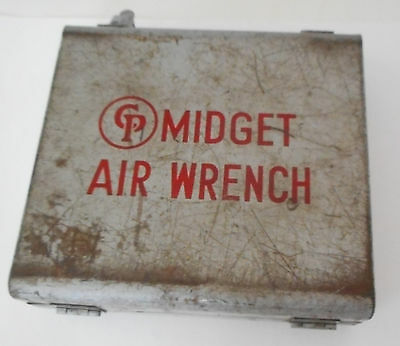 Vintage Chicago Pneumatic Midget Air Wrench OEM Carry Case Toolbox Steel