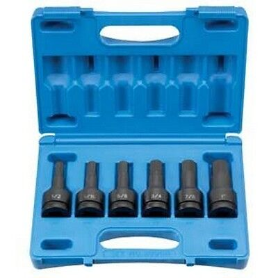 Grey Pneumatic GRY8096H 6-Piece 3/4 in. Drive Hex Driver Set NEW