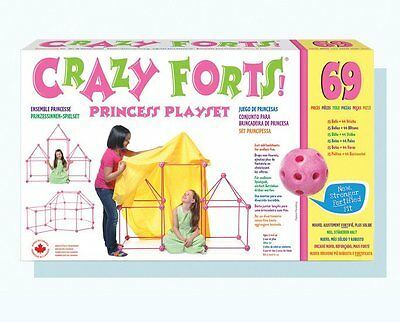 Crazy Forts CF2 Princess Playset 69 Piece Set Pink For Kids Ages 5 yr And Up New