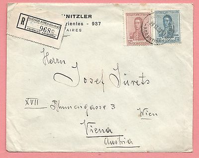 1922 Argentina Registered Cover Buenos Aires To Austria