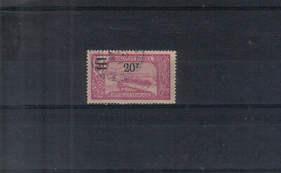 Guadeloupe 1924-27 Surcharge 20f on 5f used