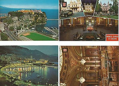 4 postcards of Monaco / Monte Carlo