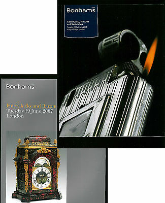Clocks, Watches Auction Catalogues. Bonhams Feb 2005 & June 2007