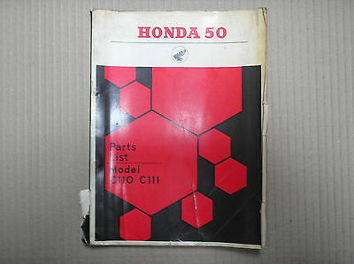 Honda 50 C110 C111 genuine parts catalogue good USED