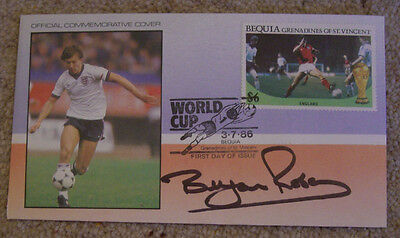 Brian Robson - Manchester United & England - signed World Cup 1986 FDC