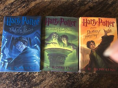 Lot of 3 Harry Potter Deathly Prince Phoenix Hardcover Books
