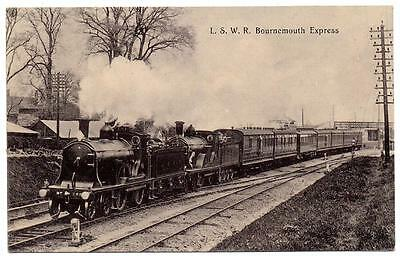 London & South Western Railway Bournemouth Express Pre 1918 Real Photo
