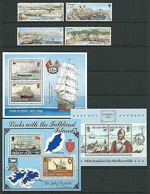 Small collection of UNMOUNTED MINT Isle of Man Mini sheets & stamps.