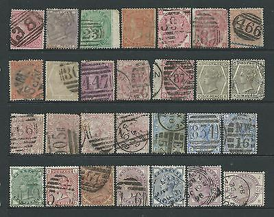 Small collection of QV Surface-Printed stamps, fairly mixed condition.