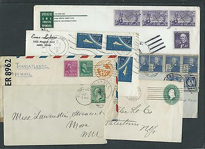Small collection of 6 USA covers, mixed condition.