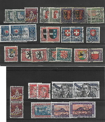 Switzerland - Pro Juv. Range early used etc. (32)