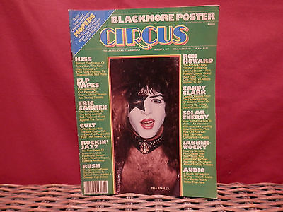 Circus Magazine (August 4, 1977)   Ron Howard   ELP   Ritchie Blackmore Poster!
