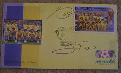 Zico & Socrates - Brazil - signed World Cup 1986 FDC