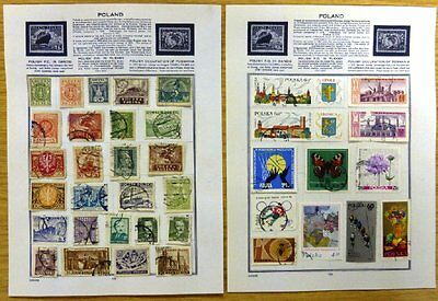 Nice Selection of Used Poland Stamps on 10 Pages. XS-1033.