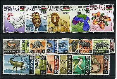 Kenya.20 -- Mm/used 1964 Stamps On Stockcard