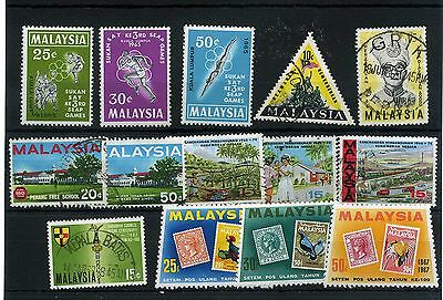 Malaysia 14 -- 1965/7 Mounted Mint/ Used Stamps On Stockcard