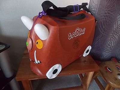 GRUFFALO TRUNKI Kids Ride on Suitcase with Wheels With Strap and Key