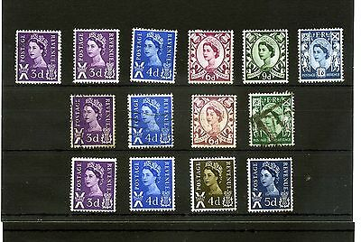 Gb.scotland.14 -- 1958/ 68  Qe2 Mounted Mint/ Used  Stamps On Stockcard