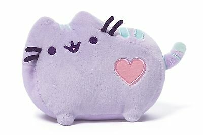 "* GUND Plush Toy Stuffed Animal PUSHEEN CAT Pastel Purple Kitten 6"" Soft Heart"