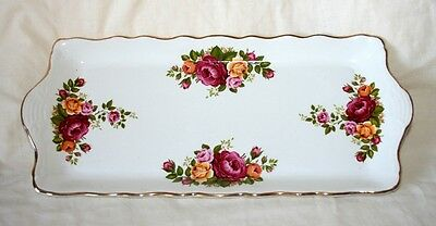 James Kent/Old Foley 'Melrose' SandwichTray/Plate, Roses - Red/Yellow/Pink, Vgc
