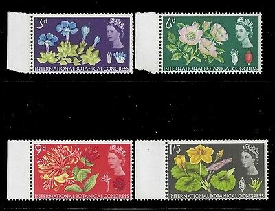 Great Britain Stamps 1964 Flowers Phosphor (SG655p-658p) MNH £30/$39