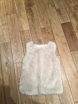 Girls Fur Cream Gilet 7-8yrs