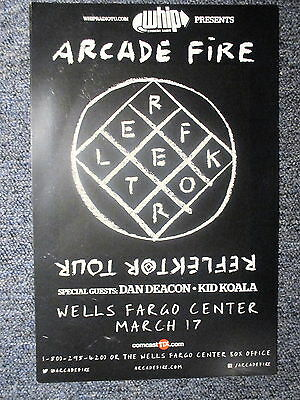 Arcade Fire Concert Poster 11 X 17  Philly March 17th ORIGINAL!