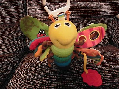 Lamaze Soft Butterfly Pram/Bed Toy..Teether,Rattle,Diff Textures