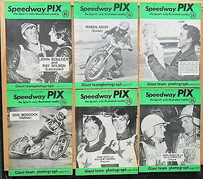 Collection Of 1969 Speedway Pix Magazines Issues 1-6
