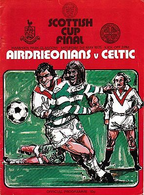 1975 SCOTTISH FA CUP FINAL PROGRAMME AIRDRIE v CELTIC @ Hampden Park May 1975