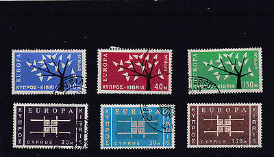 Cyprus 1963 Europa Both Sets Sg.224-226 & 234-236 Fine Used