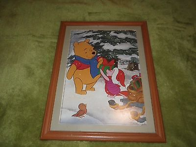 Disney Winnie the Pooh framed picture LIMITED EDITION CHRISTMAS 1999