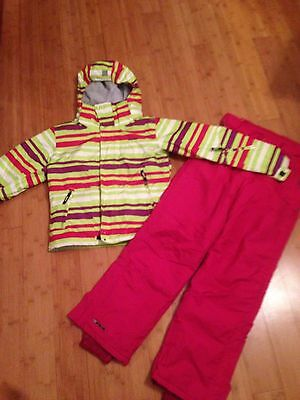Girls Ski Set - Bright & Cute! Jacket & Salopetts To Fit Age 11-13