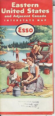 Vintage 1942 Esso Road Map of Eastern United States