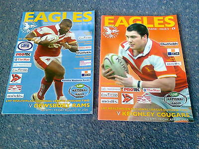 2 sheffield eagles rugby league programmes 2000's